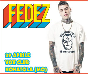 FEDEZ - POP-HOOLISTA TOUR
