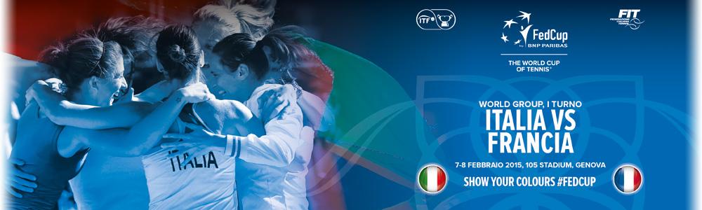 FED CUP BY BNP PARIBAS - ITALIA vs FRANCIA