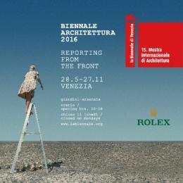 BIENNALE DI VENEZIA - ARCHITECTURE - la Biennale di Venezia