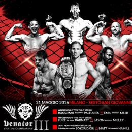 VENATOR FIGHTING CHAMPIONSHIP 3 - PalaSesto