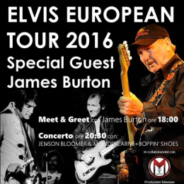 ELVIS EUROPEAN TOUR SPECIAL GUEST JAMES BURTON - PIME SALA 1