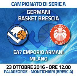 GERMANI BASKET BRESCIA VS EA7 MILANO - Palasport J. George